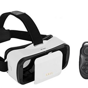 MSRM White 3D VR Glasses,3D VR virtual reality headset Movie Game For IOS, Android ,Microsoft& PC phones Series within 4.5-6.0inches.With Bluetooth gamepad / remote / self timer(WHITE)