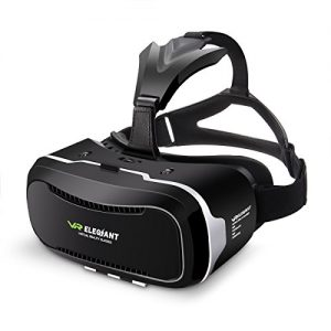 Virtual Reality Headset, ELEGIANT 3D VR Glasses Virtual Reality Box for 3D Movies Video Games for iPhone 7 6 6s Plus Samsung S8 S7 S6 Edge S5 Note 5 and Other Smartphone – 2nd Generation VR Headset